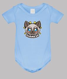 cara de gato siamés kawaii chibi
