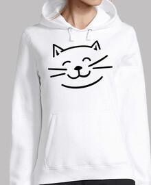 cara de gato sonriente