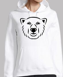 cara de la cabeza de oso polar