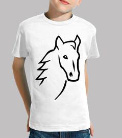 cara de la cabeza del caballo