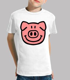 cara de la cabeza del cerdo