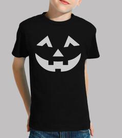 cara de la calabaza de halloween