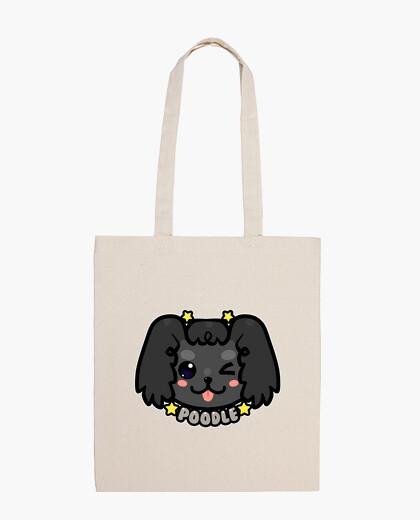 Bolsa cara de perro caniche kawaii chibi - bolso de mano