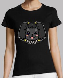 cara de perro caniche kawaii chibi - camisa de mujer