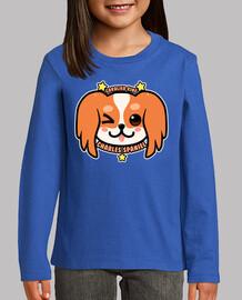 cara de perro de kawaii charles spaniel - camisa de niños