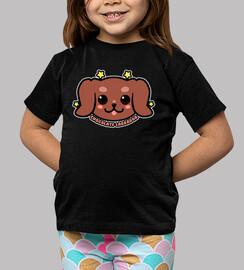 cara de perro de labrador chocolate kawaii - camisa de niños