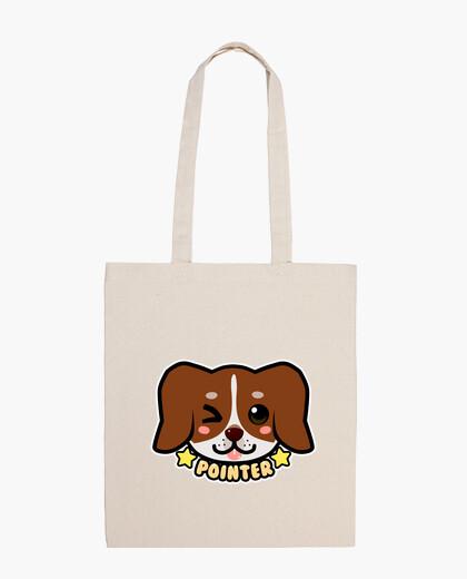 Bolsa cara de perro kawaii chibi puntero - bolso de mano