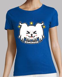 cara de perro kawaii komondor - camisa de mujer
