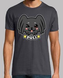 cara de perro kawaii puli - camisa de hombre