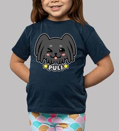 cara de perro kawaii puli - camisa de niños