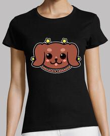 cara de perro labrador chocolate kawaii - camisa de mujer