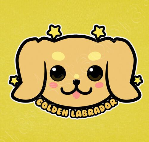 T Shirt Faccia Da Cane Kawaii Golden Labrador Camicia Da Uomo
