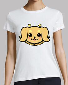 cara de perro labrador dorado kawaii - camisa de mujer