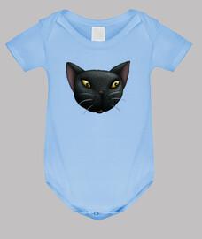 cara del gato negro niños