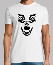 cara del lobo enojado