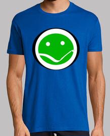Cara verde divertida