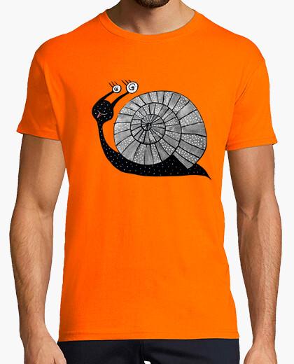 Camiseta caracol lindo de la historieta con los ojos espirales