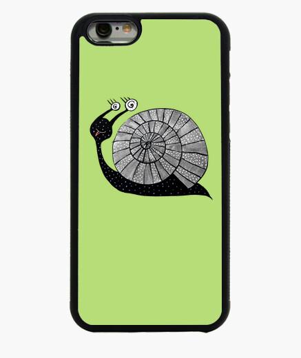 Funda iPhone 6 / 6S caracol lindo de la historieta con los ojos espirales