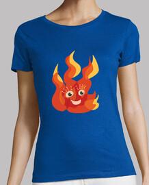 caractère flamme feu brûlant heureux