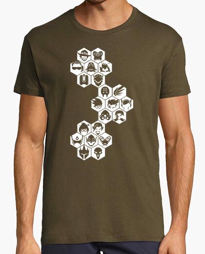 Tee-shirt caractères blancs cartel