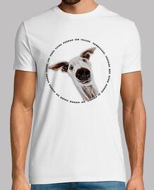 CaraDeGalgo-Camiseta Chico MCBlanco