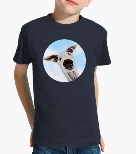 Ropa infantil CaraDeGalgo en el cielo-Camiseta Niño