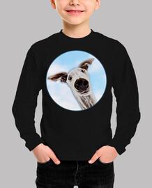 CaraDeGalgo en el cielo-Camiseta Niño