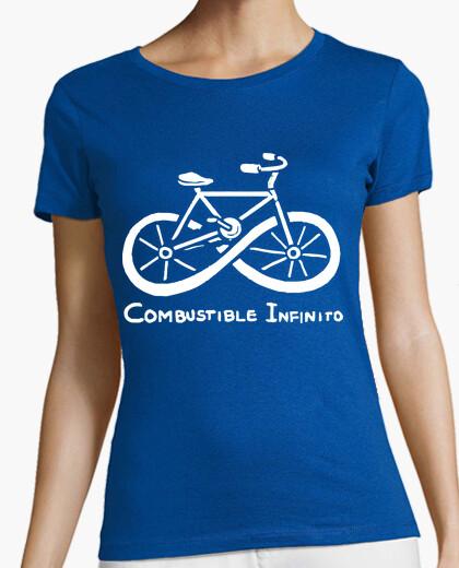 Tee-shirt carburant vélo infini écologique