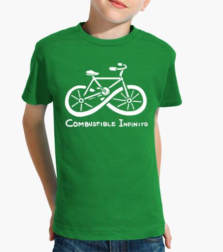Abbigliamento bambino carburante infinito ciclismo ecologico