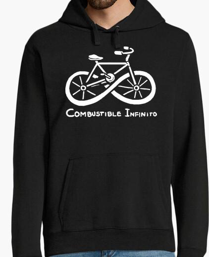 Felpa carburante infinito ciclismo ecologico