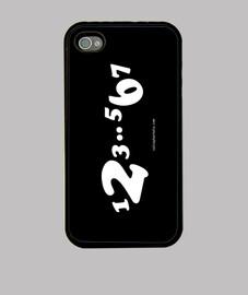 carcasa iPhone 4/4s 1,2,3..5,6,7 blanco