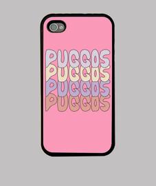 Carcasa rosa Puggos Name iPhone 4 / 4S