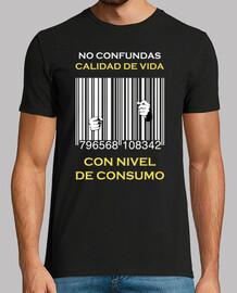 Cárcel Código de Barras - No confundas calidad de vida con nivel de consumo