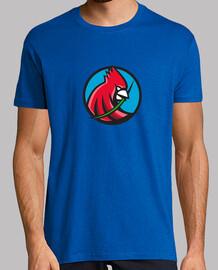 cardenal hoja de hierba cabeza círculo retro