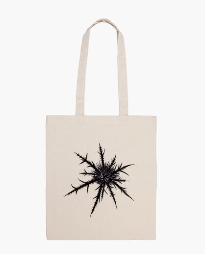 Bolsa cardo seco gótico negro botánico