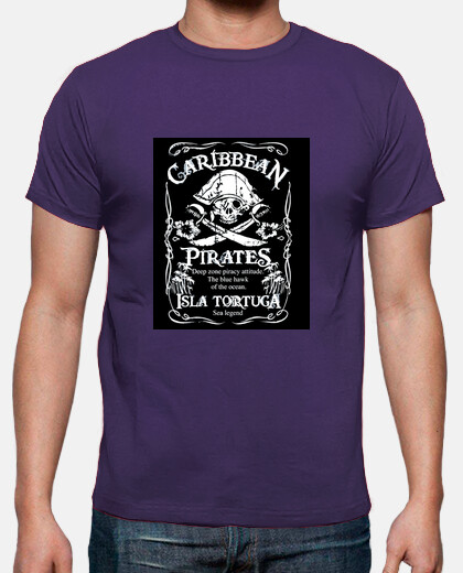 Camisetas Caribbean Pirates (metalizado)