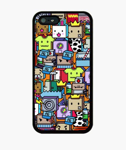 Coque iPhone caricatures carrés