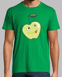 carino, sorridente cartoni animati apple
