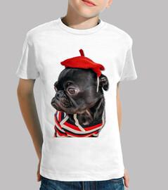 carlin chien carlin avec chapeau