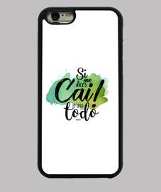 Carnaval Cádiz - Si me dices Cai lo dejo todo - Funda iPhone 6, negra