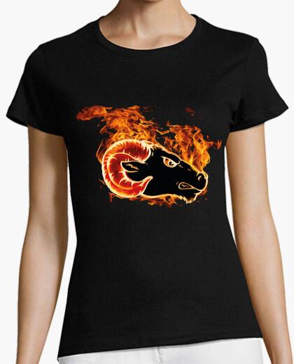 Camiseta Carnero con Llamas