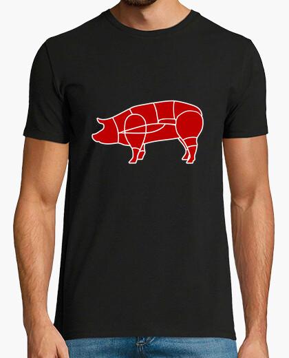 Camiseta carnicero cerdo
