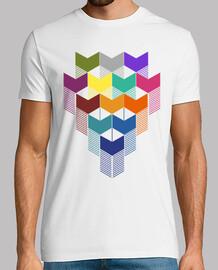 carré de couleur géométrique