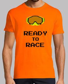 Carrera, moto, enduro, motocros, race, camiseta, máxima calidad