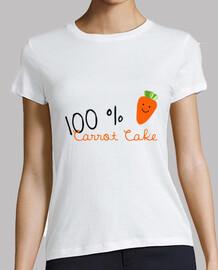 Carrot cake 100% camiseta Mujer, manga corta, blanca, calidad premium pelirrojas