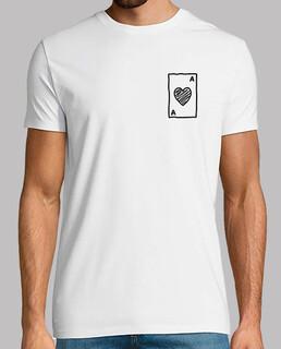 Carta As Camiseta Corta Hombre
