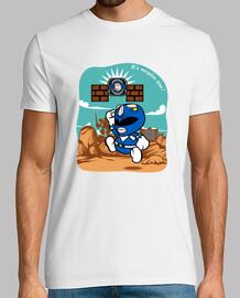 carta blu ranger t-shirt da uomo