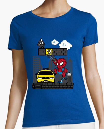 Carta spider t-shirt da donna