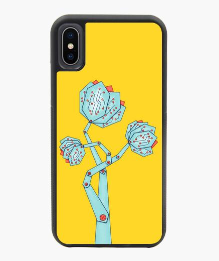 Coque iPhone X / XS carte de circuit imprimé fleurs geek
