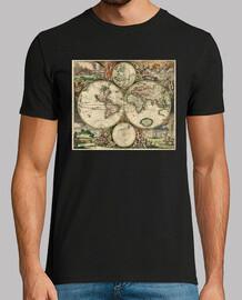 carte du monde 1698